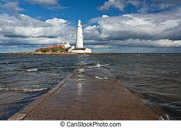 st marys lighthouse on the North East Coast