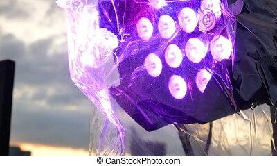 Concert stage flash lights