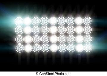 Floodlights Flash lights.Spotlights