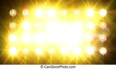 Floodlights flash