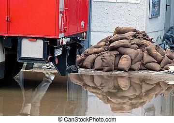 floods in passau, germany - floods in passau. bavaria....