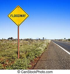 floodway, australia, segno