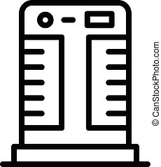 Floor air conditioner icon, outline style - Floor air...