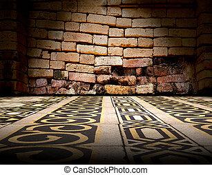 Floor background and tile floor