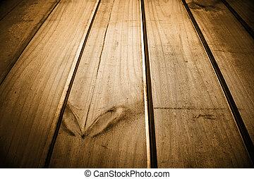Floor boards - Closeup abstract of floor boards