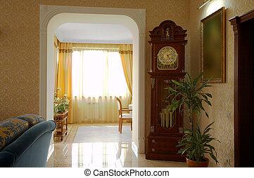 clock with a pendulum - Floor clock with a pendulum in a...