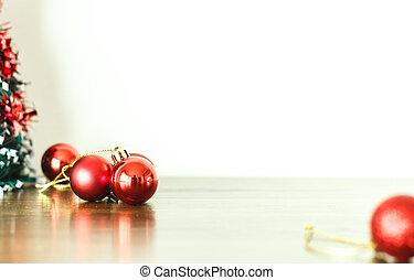 floor., decoração, madeira, feliz, ano, novo, natal, feliz