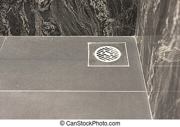 floor drain in bathroom