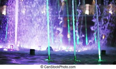 Floor fountain in park