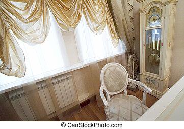 floor hours - Floor hours, light armchair and wide window