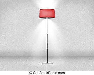 Floor Lamp Against Wall