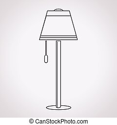 floor lamp clipart. floor lamp icon eps clipart