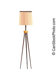 Floor lamp with beige shade, lighting equipment - Furniture ...