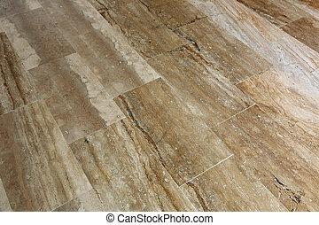 floor made of marble slabs