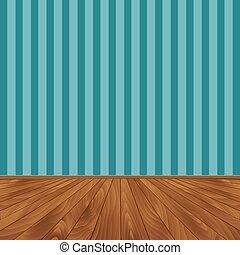 floor., muur, houten