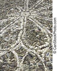 Floor of stone with symbols