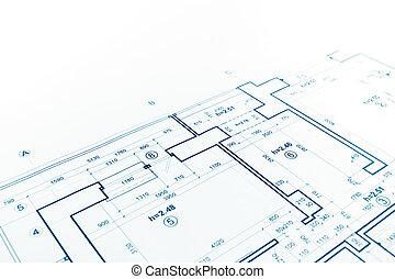 floor plan blueprint, blueprints background, architecture drawing