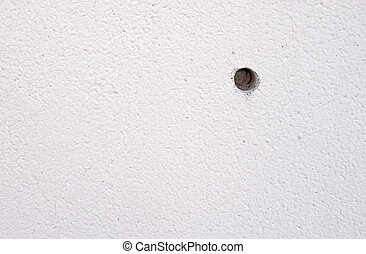 floor with hole on the wall abstract background