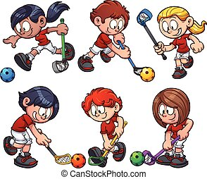 floorball, crianças