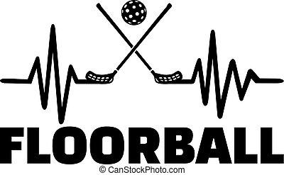 Floorball heartbeat line