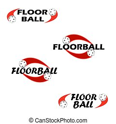 Floorball text for logo the team and the cup