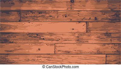 Floorboards - Worn floorboards with exagerated grain and...