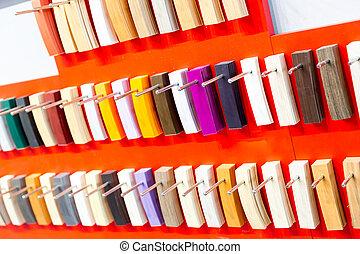 Flooring colorful palette