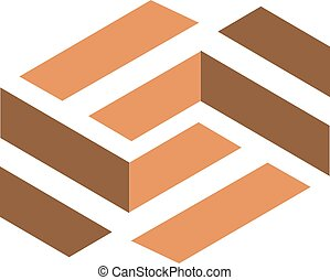 creative tile wooden flooring vector logo base from letter S