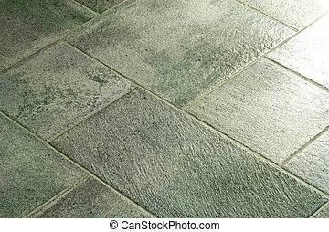Flooring tiles in green color various sizes