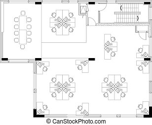 floorplan of a commerical office layout