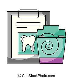 floos, dental, arriba, higiene, cheque, cuidado