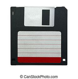 "Floppy disk - Black 3.5"" floppy disk with empty label ..."