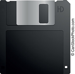 floppy disk - detailed illustration of a 3,5inch floppy...