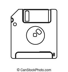 Floppy disk icon - flat design Floppy disk icon vector...