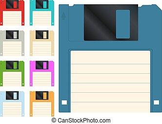 Floppy disk icon - Floppy disk vector icon set