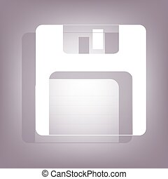 Floppy disk icon with shadow