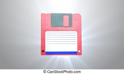 Floppy disk. The old generation of information carriers. -...