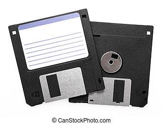 Floppy disks isolated on white background