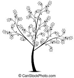 flor, árvore