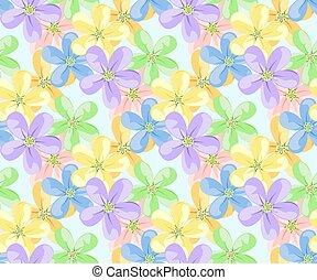 flor, ícones, para, seamless, pattern.
