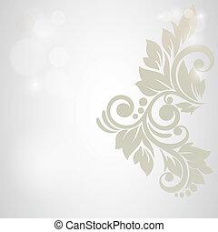 flor, abstratos, casório, experiência., convite, floral, ou, cartão
