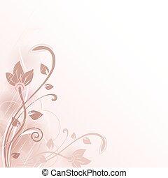 flor, abstratos, space., vetorial, fundo, cópia