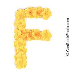 flor, alphabet., f letra