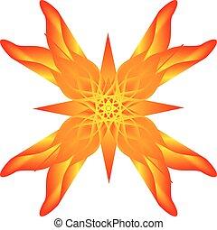 flor anaranjada