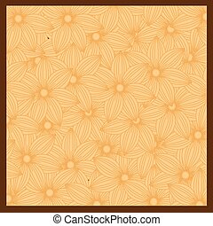 flor anaranjada, plano de fondo