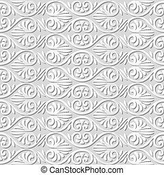 flor, arte, curva, espiral, forma, ventilador papel, 3d