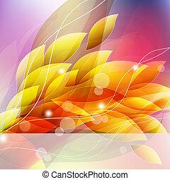 flor, arte, fundo, projetos