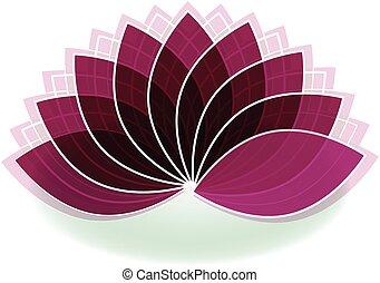 flor, arte, loto, símbolo, desenho, logotipo