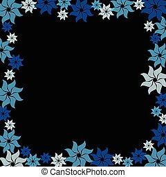 flor azul, experiência preta, estouro
