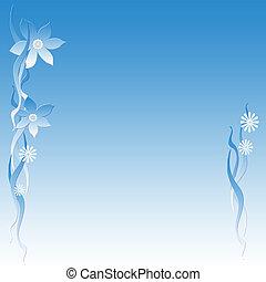 flor azul, nota